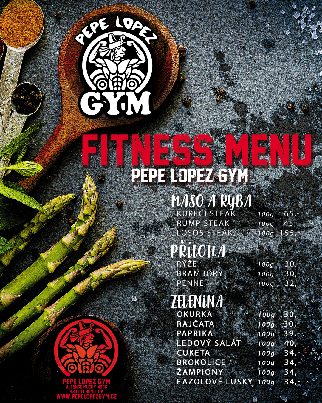 Do 29.11.2020 - FITNESS MENU
